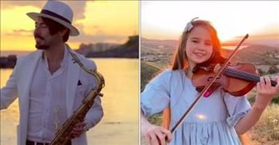 Stunning Violin And Saxophone Duet To 'Hallelujah'