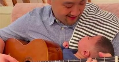 Dad Plays 'Can't Help Falling In Love' For Miracle Baby