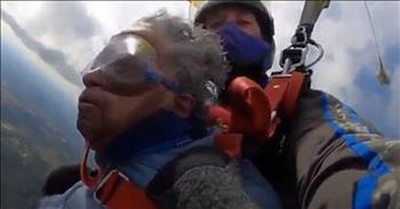 102-Year-Old WWII Veteran Takes Huge Leap of Faith