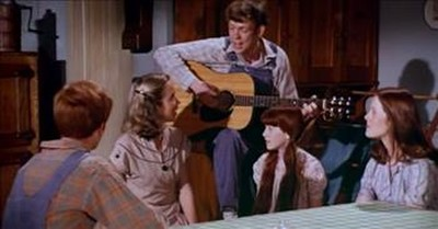 Classic Clip Of The Waltons Singing 'I'll Fly Away'