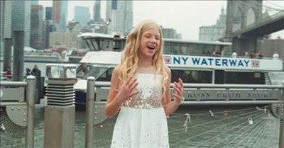 Teen Vocalist Sings 'Stand In The Light' In New York City