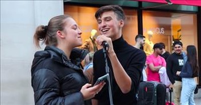 2 Teen Street Buskers Sing Billy Joel's 'Piano Man'