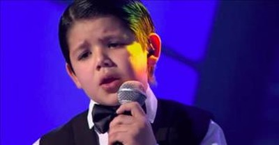 Young Boy With Big Talent Sings The Tango On Little Big Shots