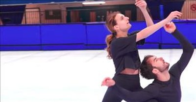 Champion Figure Skaters Defy Gravity With Stunning Routine