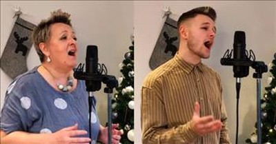 Mother And Son Duet To 'Have Yourself A Merry Little Christmas'