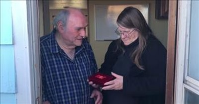 Secret Santa Saves Christmas With Gift For Woman And Her Blind Husband
