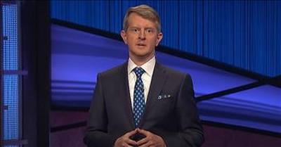 Guest Host Ken Jennings Honors The Late Alex Trebek On Jeopardy