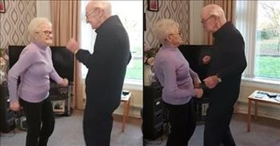 Elderly Couple Share Adorable Living Room Dance To 'Hit The Road Jack'