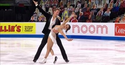 Retro-Style Ice Skating Routine Earns Top Scores For Pair