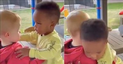 2 Sweet Toddlers Show Us The True Definition Of Friendship