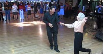 90-Year-Old Granny Stuns The Crowd With Swing Dance Routine