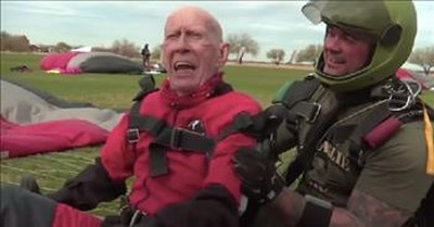 100-Year-Old Vet Takes The Plunge Of A Lifetime To Complete Bucket List
