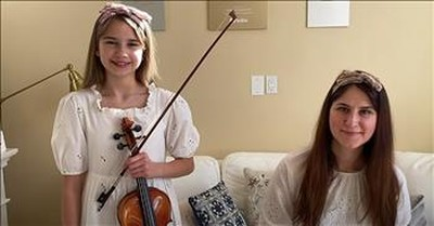 Mother-Daughter 'Ave Maria' Duet On Piano And Violin