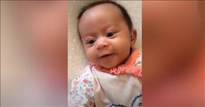 Deaf Baby Hears Mommy Sing Lullaby For The Very First Time