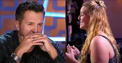 Luke Bryan Tears Up During Grace Kinstler's Audition Dedicated To Late Father