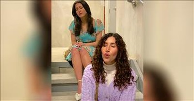 2 Women Perform Titanic's 'Hymn To The Sea' In Stairwell