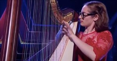 Emotional Harp Audition Earns Golden Buzzer On Romania's Got Talent