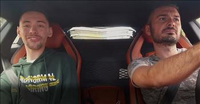 Driver Fights Back Tears As Young Man Fulfills Dream Of Riding In A Lamborghini