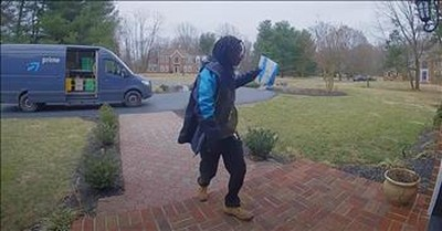 Amazon Delivery Driver Dances For Doorbell Camera