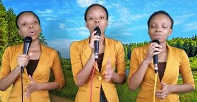 Triplets Sing 'He Paid It All'