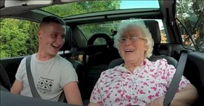 Grandma Cries Hearing Surprise Birthday Wishes On The Radio