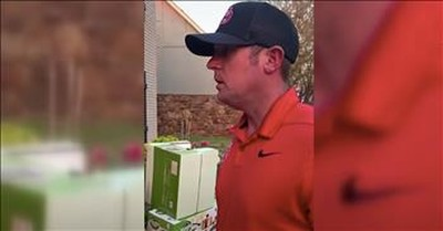 Wife Pulls Off Ultimate Prank On Husband With Piles Of Empty Delivery Boxes