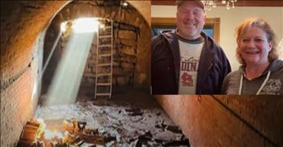 Homeowners Stunned To Find 19th Century Hidden Tunnel