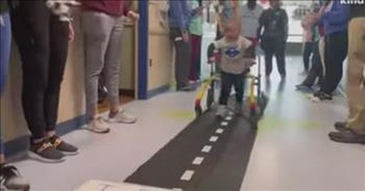 Paralyzed Toddler Miraculously Walks Out Of Hospital On His Own