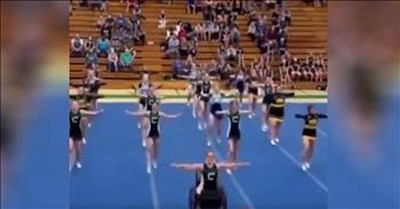 Teen Paralyzed By Drunk Driver Still Competes With Cheer Squad