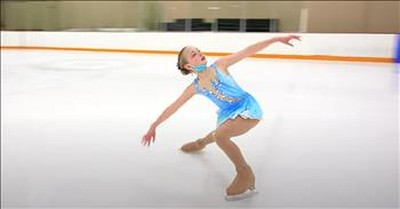 10-Year-Old Skates Chilling Routine To 'Somewhere Over The Rainbow'