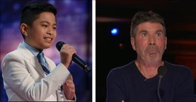 10-Year-Old Boy Gives Simon Goosebumps With 'All By Myself' Audition
