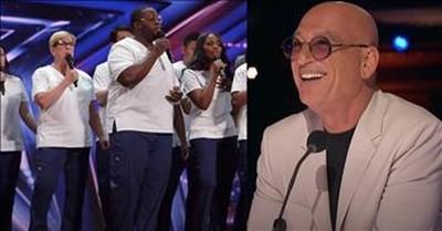 Choir Of Frontline Nurses Sing Inspiring Rendition Of 'Lean On Me' On AGT