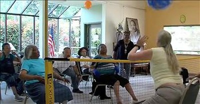 Senior Citizens Go Viral With Game Of Chair Volleyball