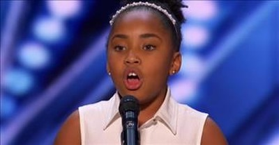 9-Year-Old Vocalist Victory Brinker Earns First-Ever 5-Way Golden Buzzer