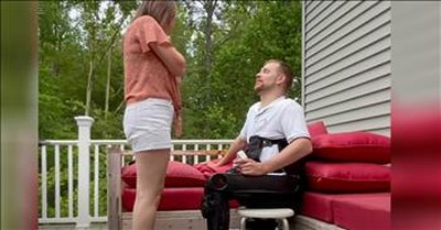 Paralyzed Man Uses Technology To Get Down On One Knee And Propose