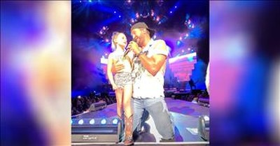Luke Bryan Surprises 7-Year-Old Fan And Brings Her On Stage