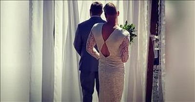 Groom's Brother Dons Wedding Dress For Epic First Look Prank