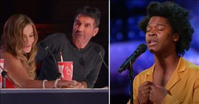 He Performed Simon's Least Favorite Song And Ended Up With The Golden Buzzer