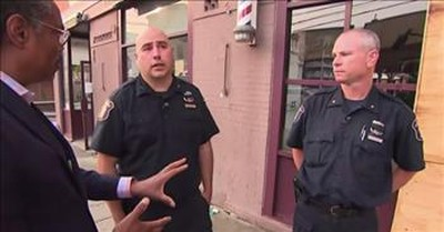 2 Cops Save The Day When Out Of Control Car Pins Mom And Baby
