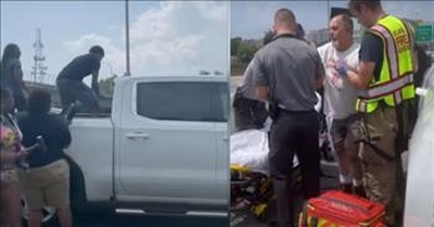 Good Samaritans Save Passed Out Driver By Smashing Truck Windows