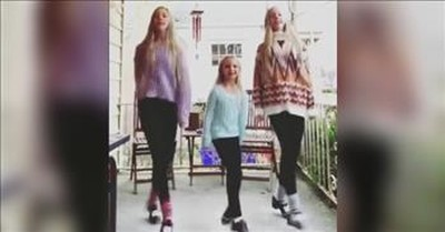 Little Girl Joins Her Twin Sisters For Jaw-Dropping Irish Dance