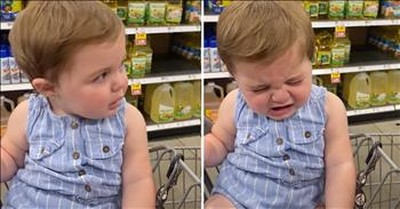 11-Month-Old Fake Cries When Dad Says 'No'