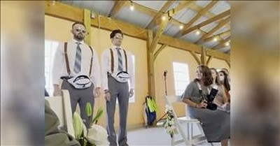 'Flower Bros' Go Viral After Epic Wedding Entrance
