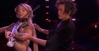Violinist Lindsey Stirling Teams Up With AGT Magician For Unforgettable Performance