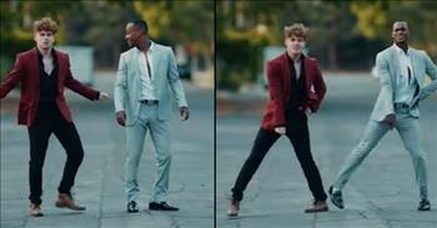 2 Dancing Dudes Perform Viral 'Stayin' Alive' Routine