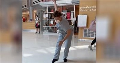 Frontline Worker Performs Ballet In Mask And Scrubs At Hospital