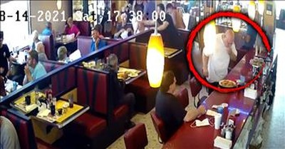 Quick-Thinking Diner Owner Saves Choking Man And It's All Caught On Camera