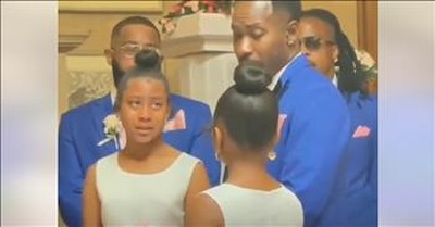 Groom Drops To His Knee During Wedding And Proposes Adoption To New Stepdaughters
