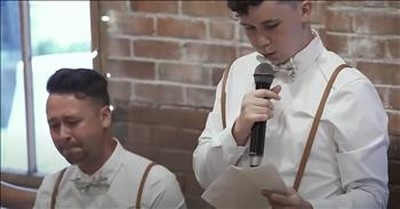 Best Man With Autism Has Everyone Crying With Heartfelt Wedding Speech For Brother