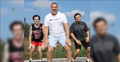Sons Join In for Dad's Viral Dance Video